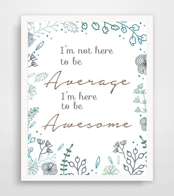 motivational art wall printable