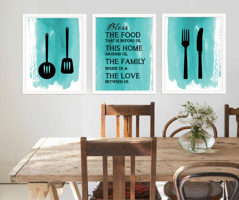 Kitchen room wall art signs for Contemporary kitchen art decor