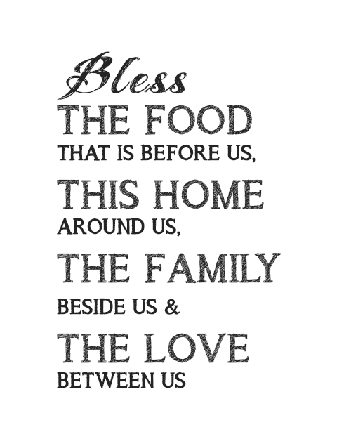 photo regarding Bless the Food Before Us Printable named printable artwork for kitchen area, kitchen area decor notion Identification02