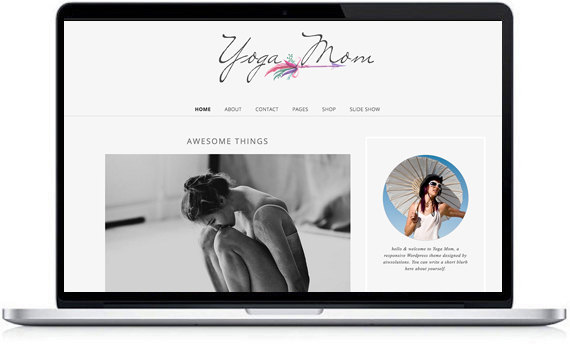 wordpress template mobile responsive design shop template