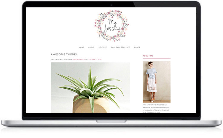 beautifull wordpress theme, blog theme for fashion designer, photographer