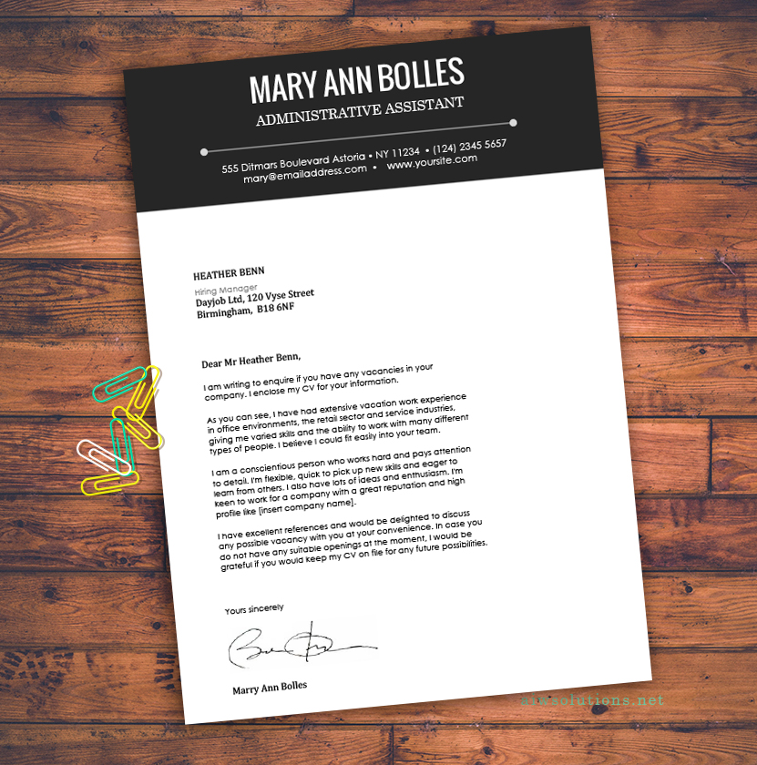 Resume / CV Template, Cover Letter for MS Word, Creative ...