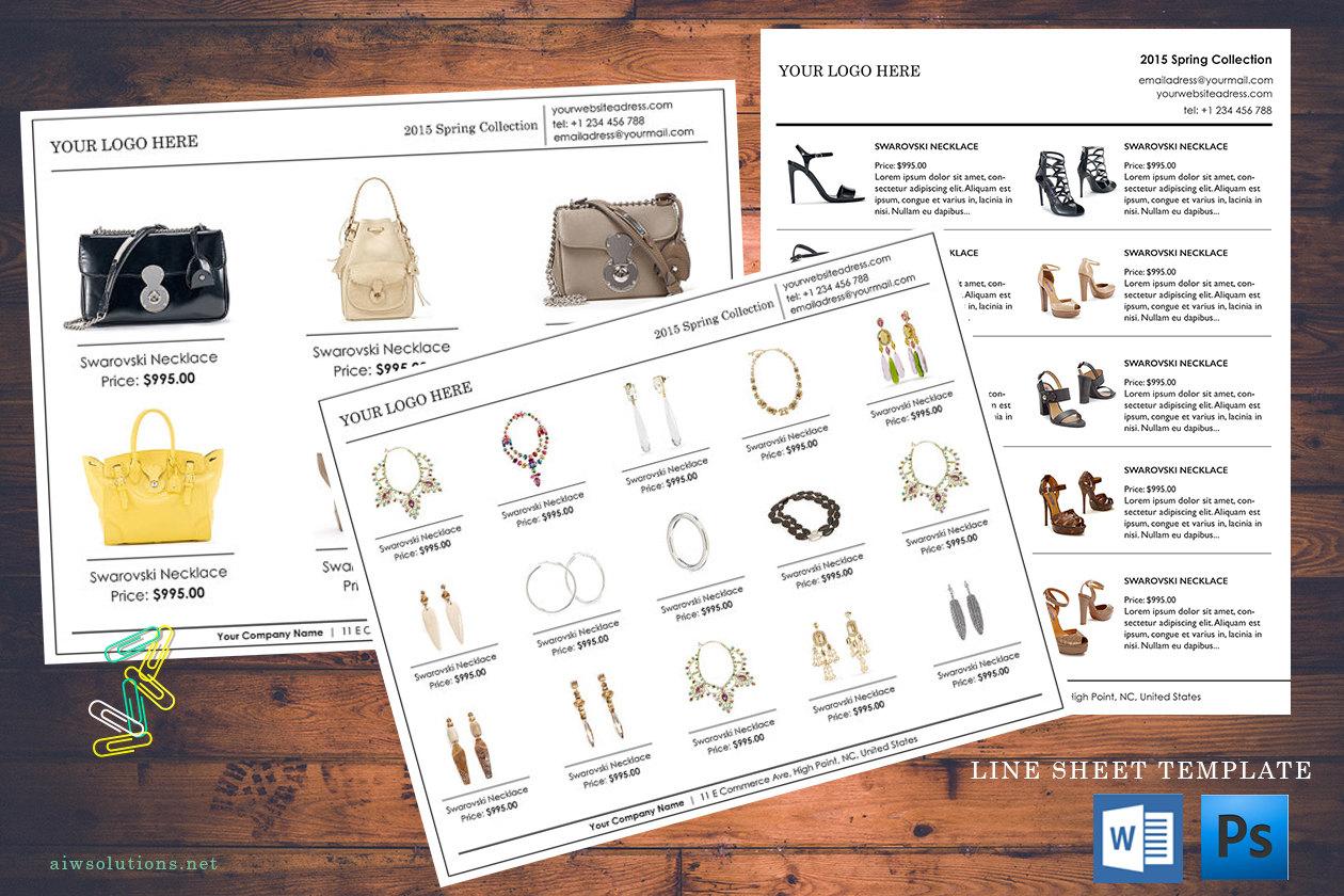 custom catalog, custom line sheet, line sheet design template, how ...