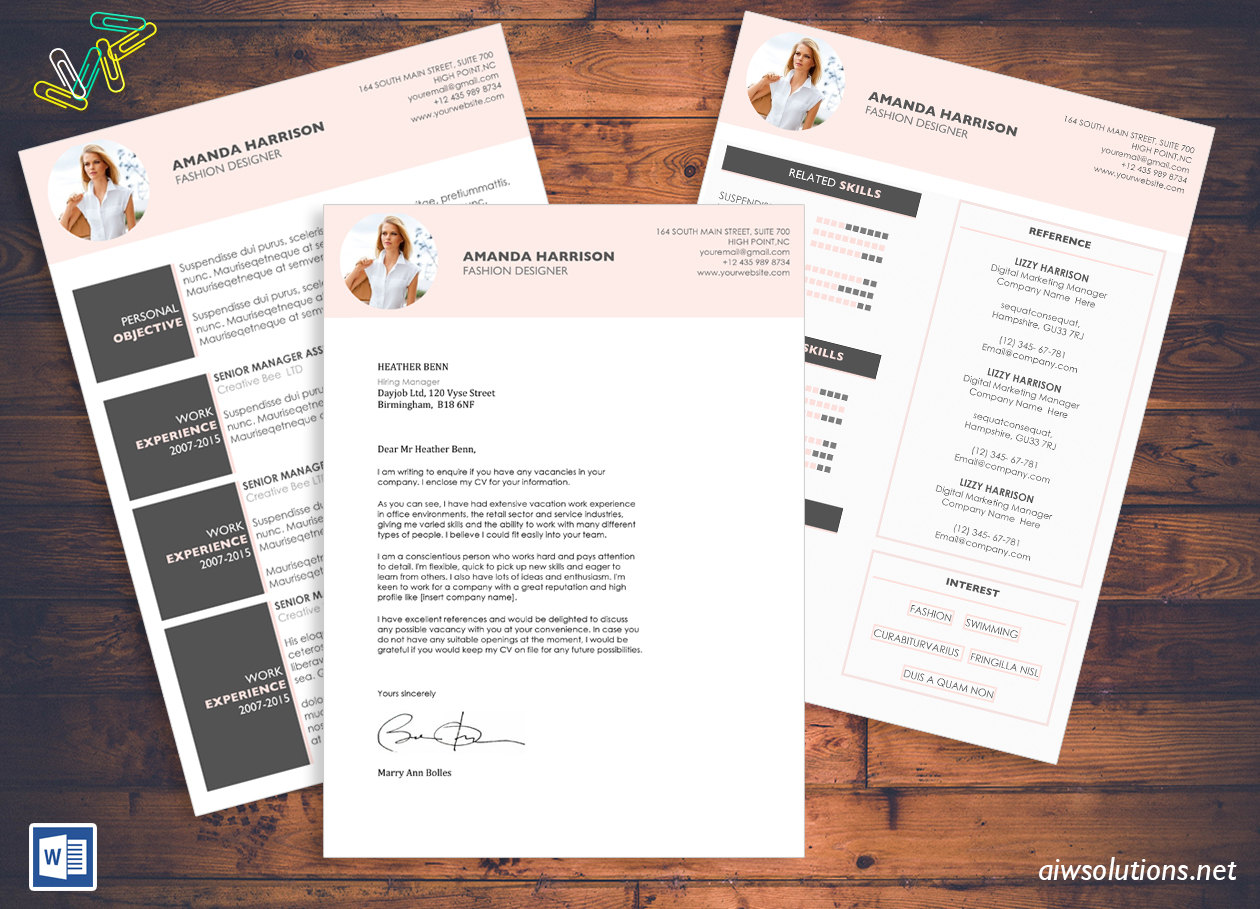 Resume cv template cover letter for ms word creative resume resume template spiritdancerdesigns