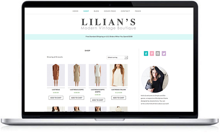 fashion shop wordpress theme