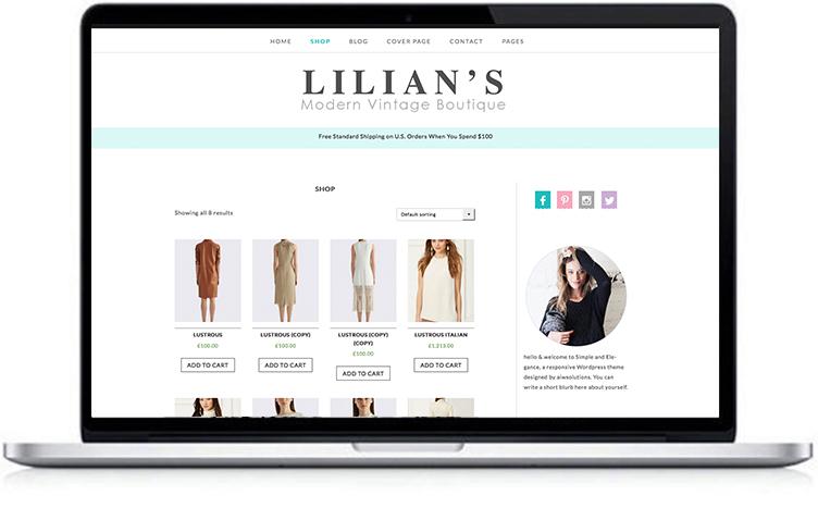 fashion shop wordpress theme