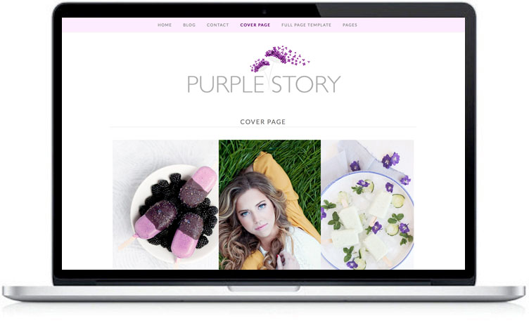 purple wordpress theme