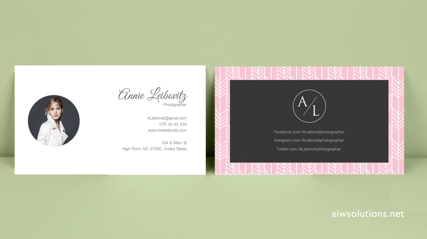 buisiness card template - premade business card template name card template