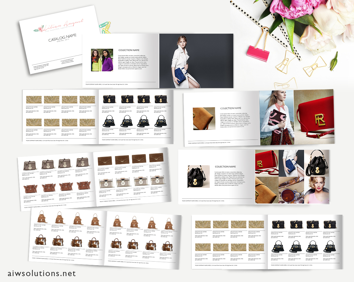 Wholesale catalog template product catalog indesign for Free templates for catalogue design