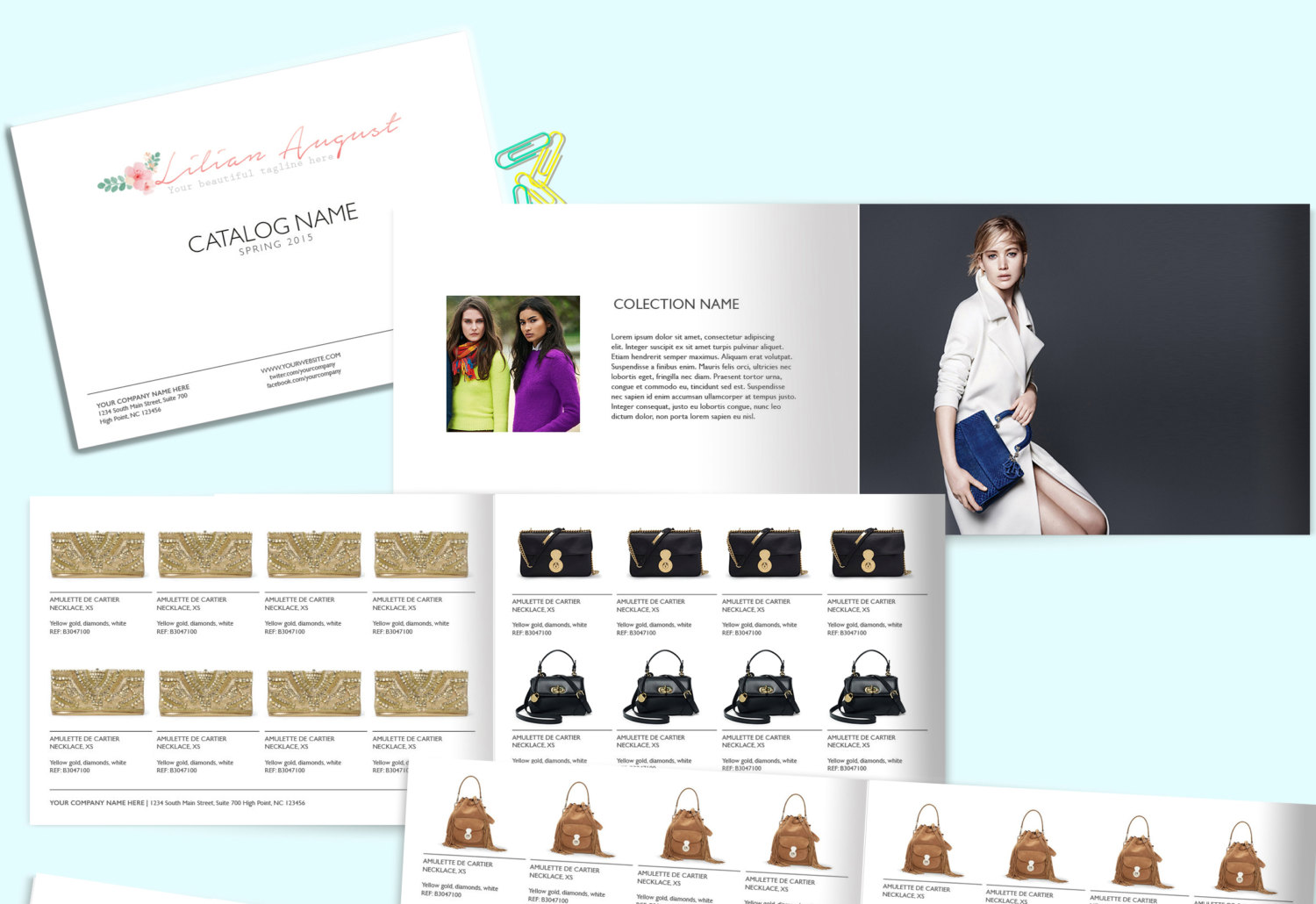 Wholesale catalog template product catalog indesign for Sample product catalogue template