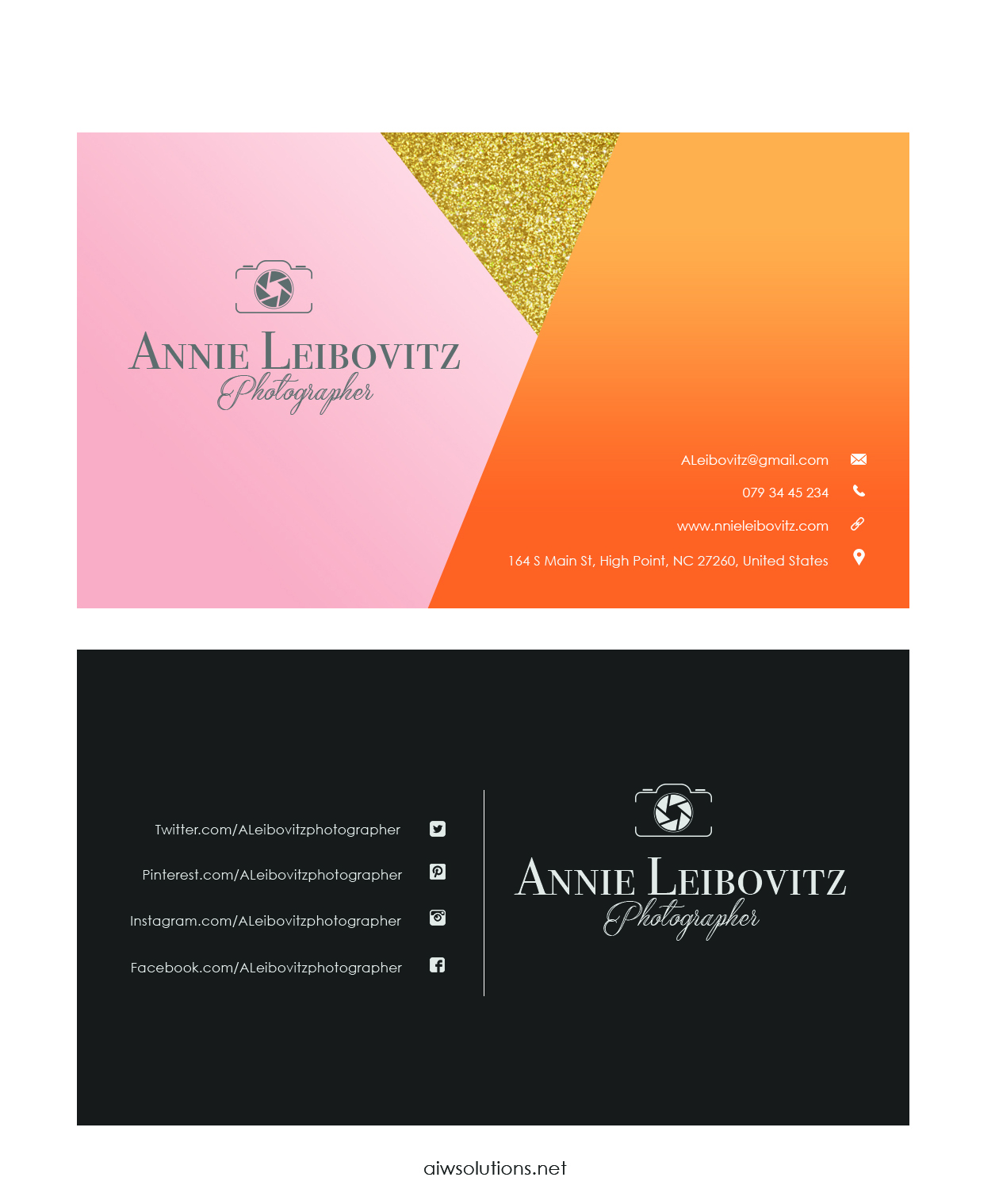 Premade business card template name card template photography name simple business card template accmission Image collections