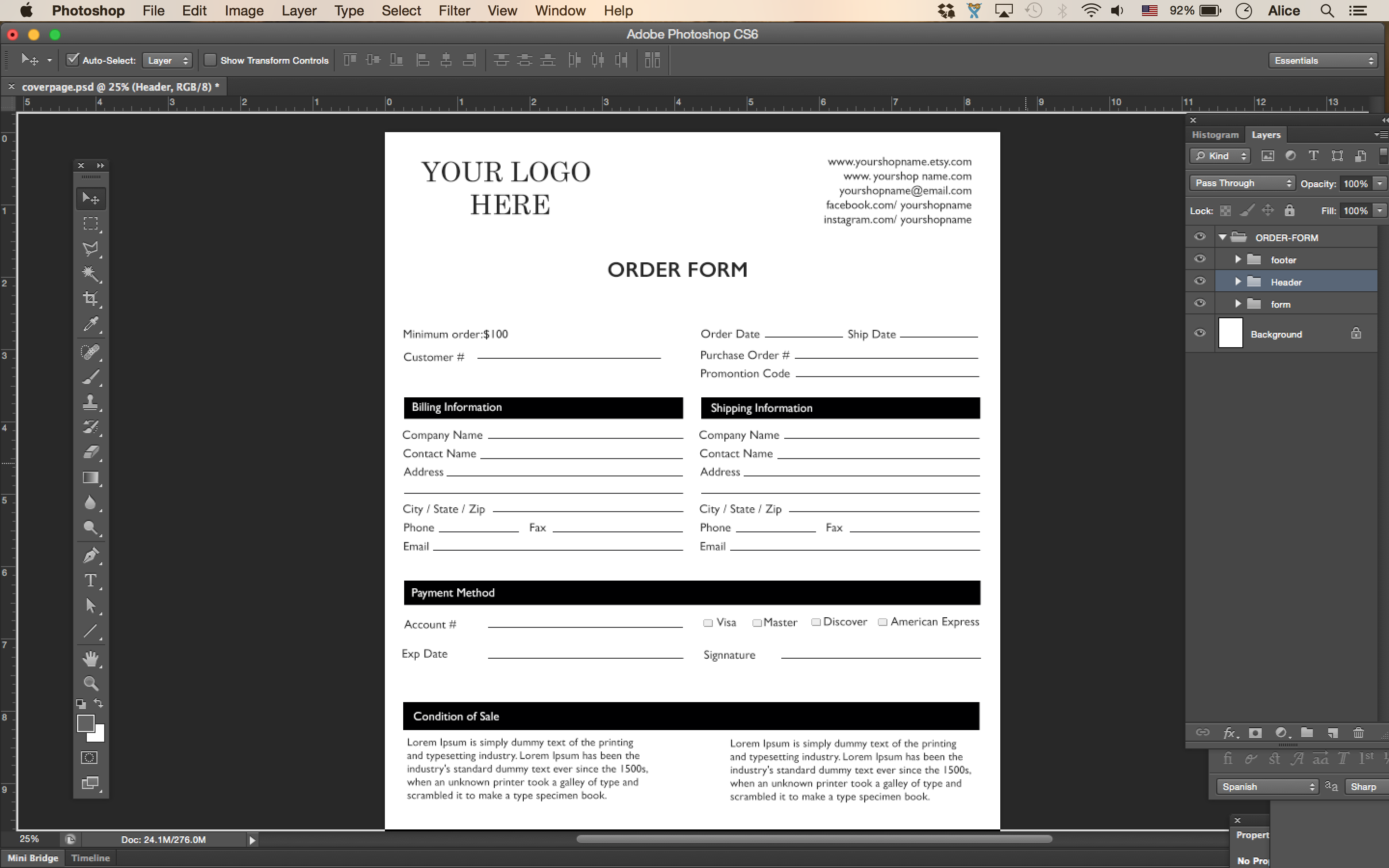 price sheet  order form template  cover order form  vertical line sheet  wholesale catalog template