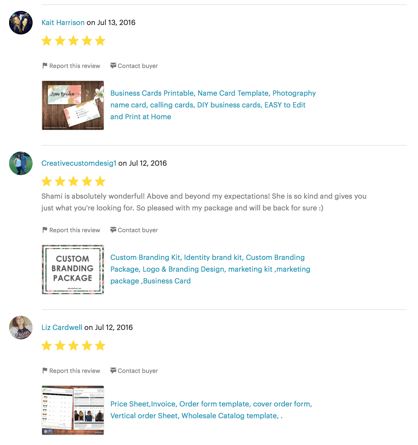 customer review for graphic design service 3