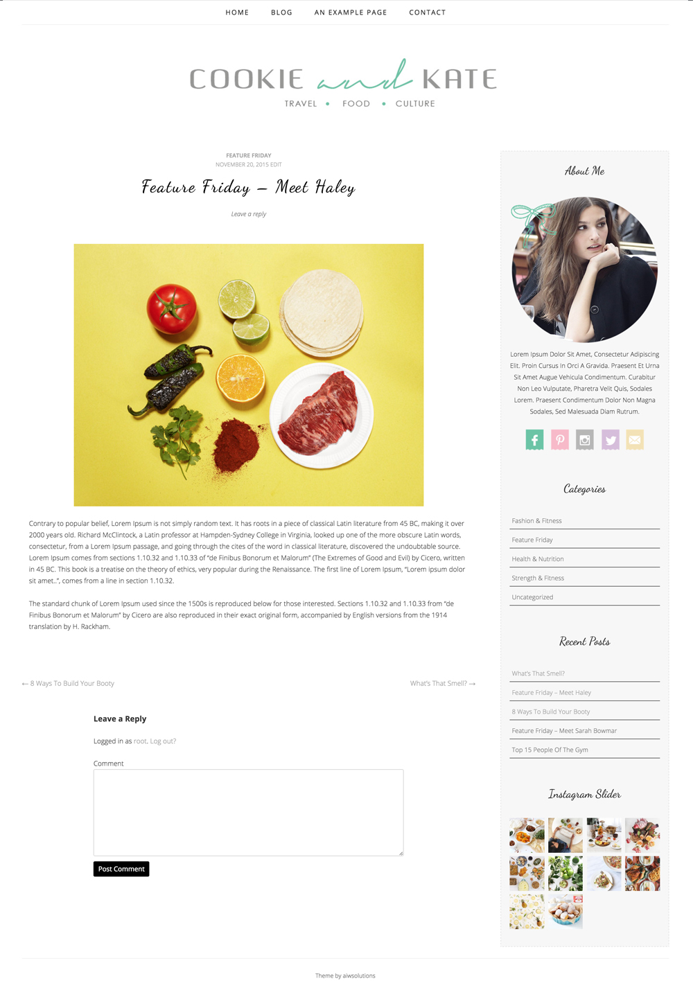 Cookie blog theme