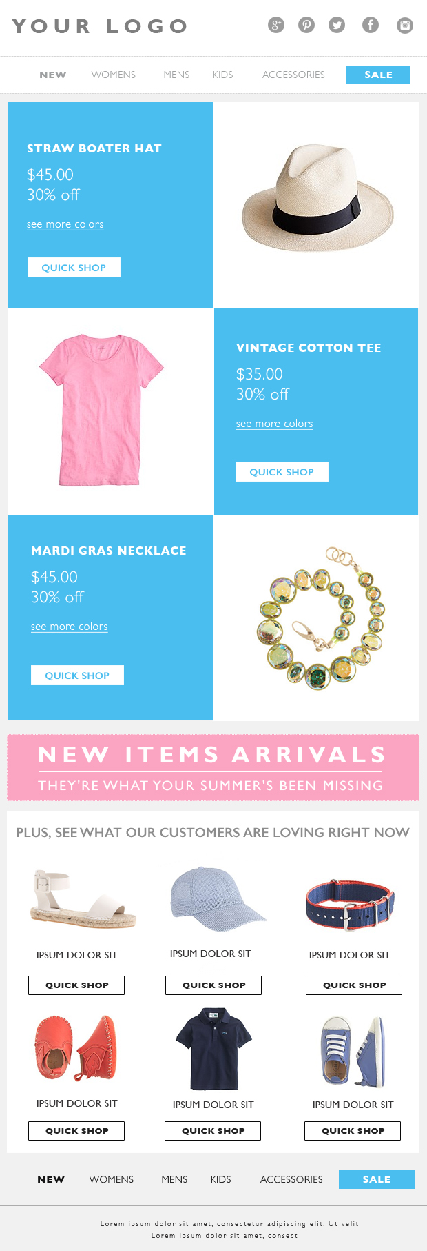 email marketing eblast template email template fashion email – Marketing Email Template