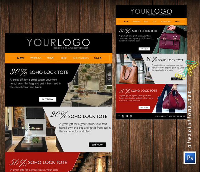 Email Marketing, Eblast Template, Email Template, Fashion Email