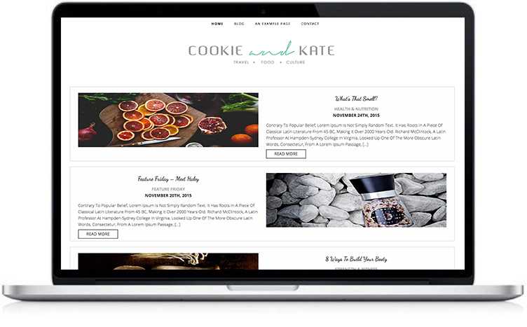 Cookie Blog Theme,food and travel blog theme, Responsive WordPress Theme, photographer Blog Theme, Cooking website, Feminine WordPress theme