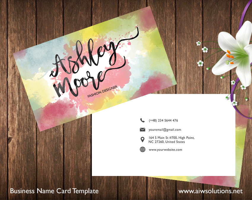 Premade business card template name card template photography name fashion business card cheaphphosting Images