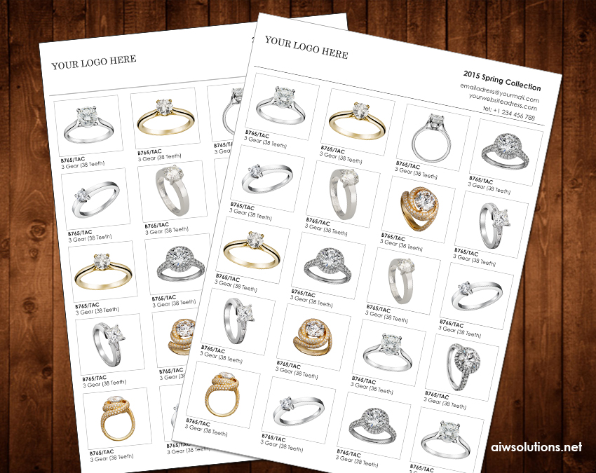 jewelry catalog linesheet