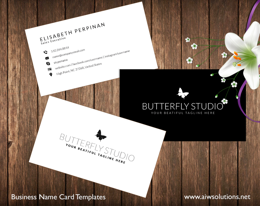 Name Card: Premade Business Card Template, Name Card Template