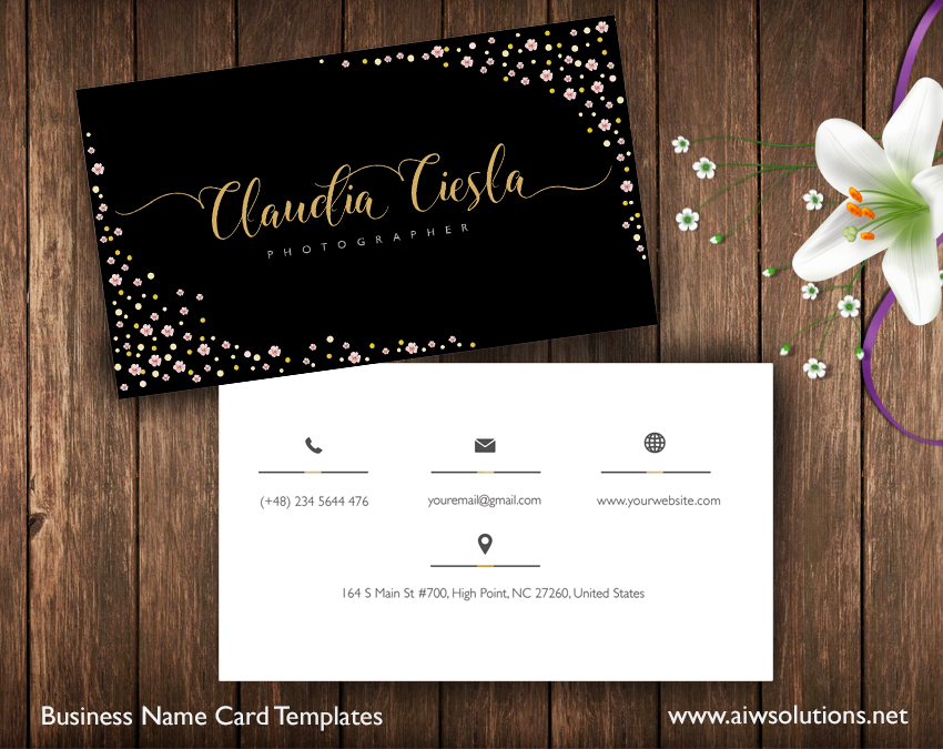 Premade Business Card Template Name Card Template