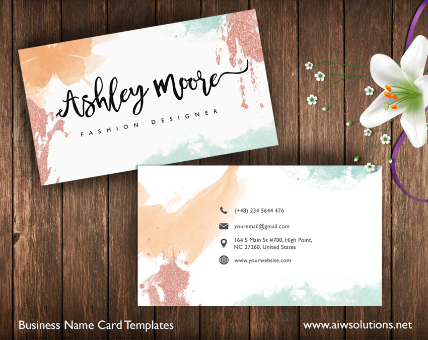 custom name card