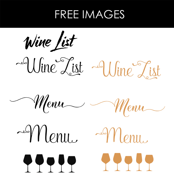 Restaurant Menu Font Kleobeachfixco - Free printable drink menu template