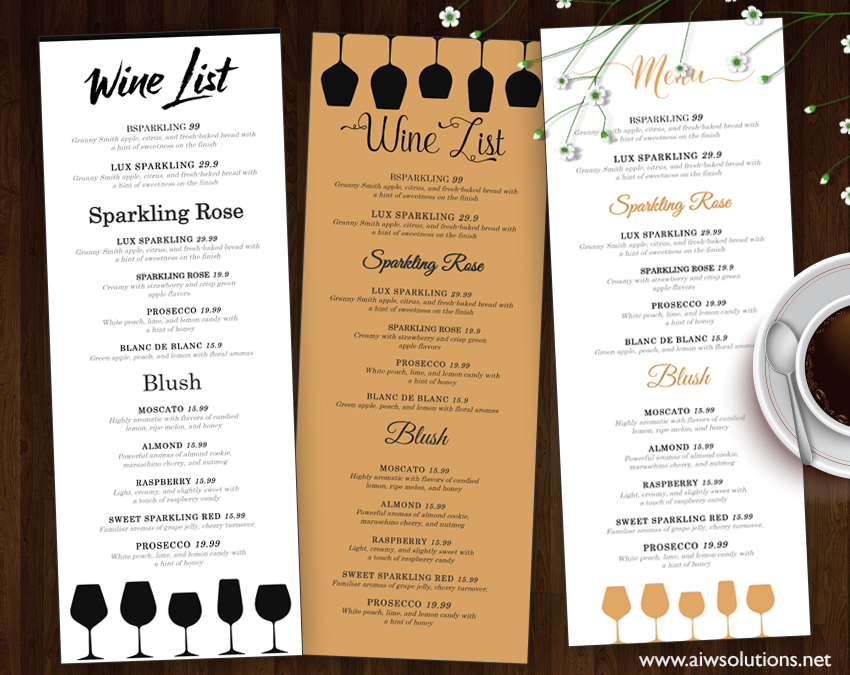Food menu restaurant aiwsolutions