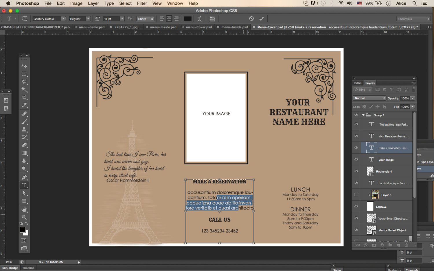 design templates tri fold take out menu menu templates wedding
