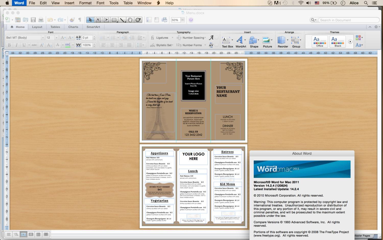 tri fold menu template 5