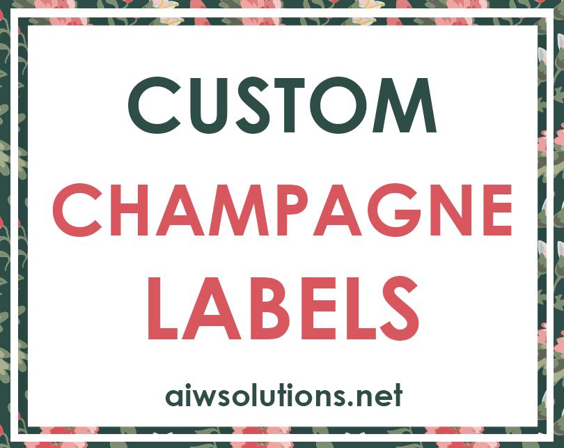 Custom Champagne Labels