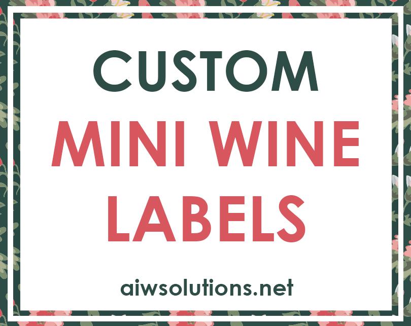 Custom Mini Wine Labels