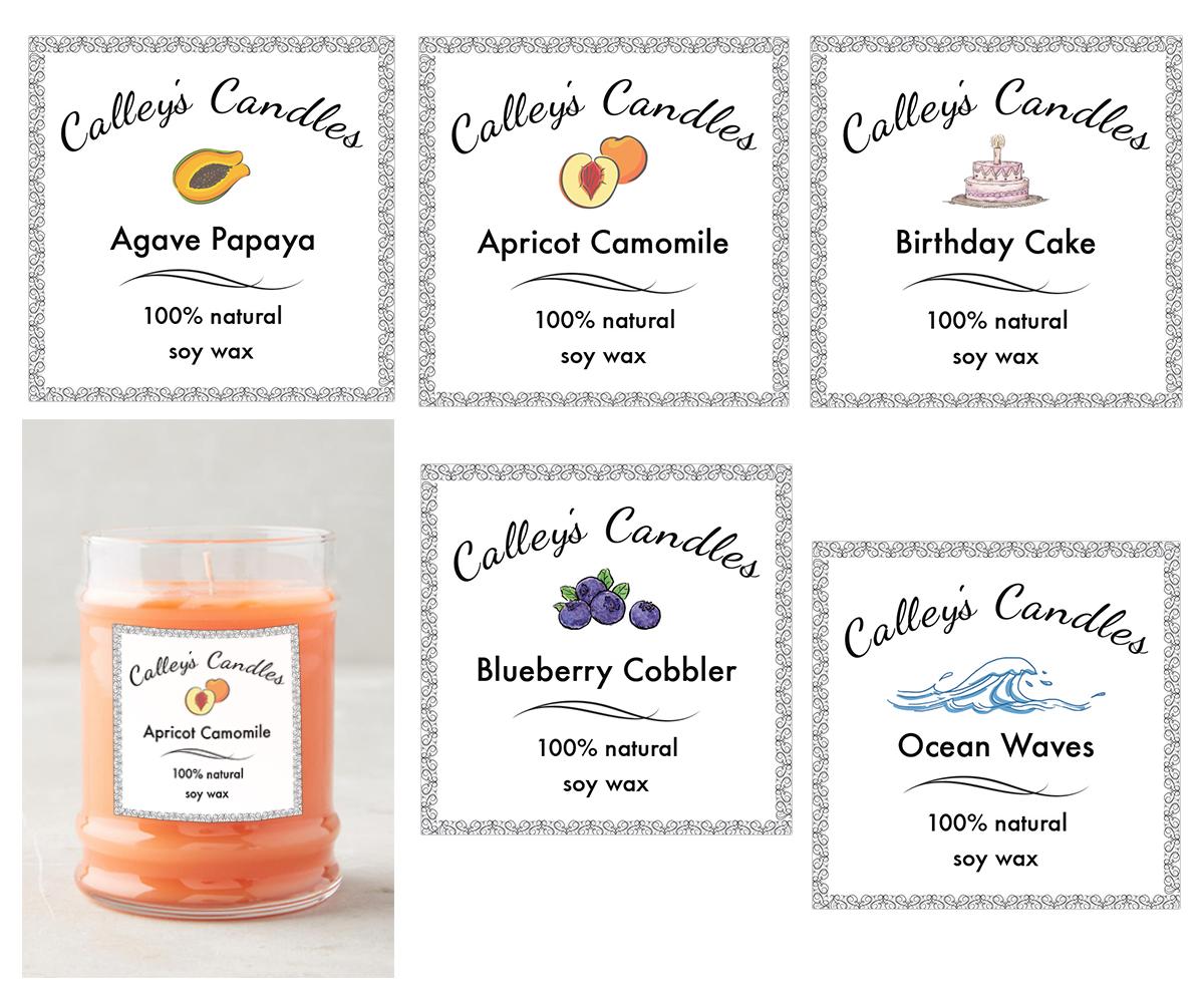 Custom candles design