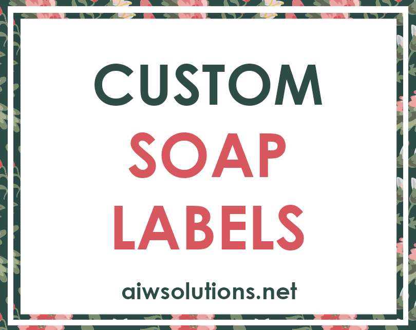 Custom soap Labels