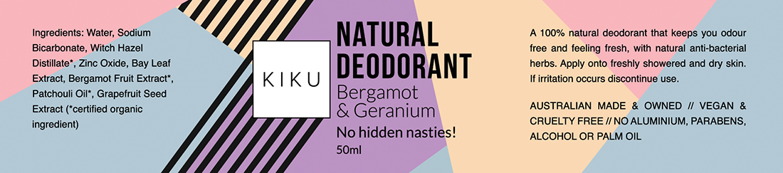 natural deodorant label design
