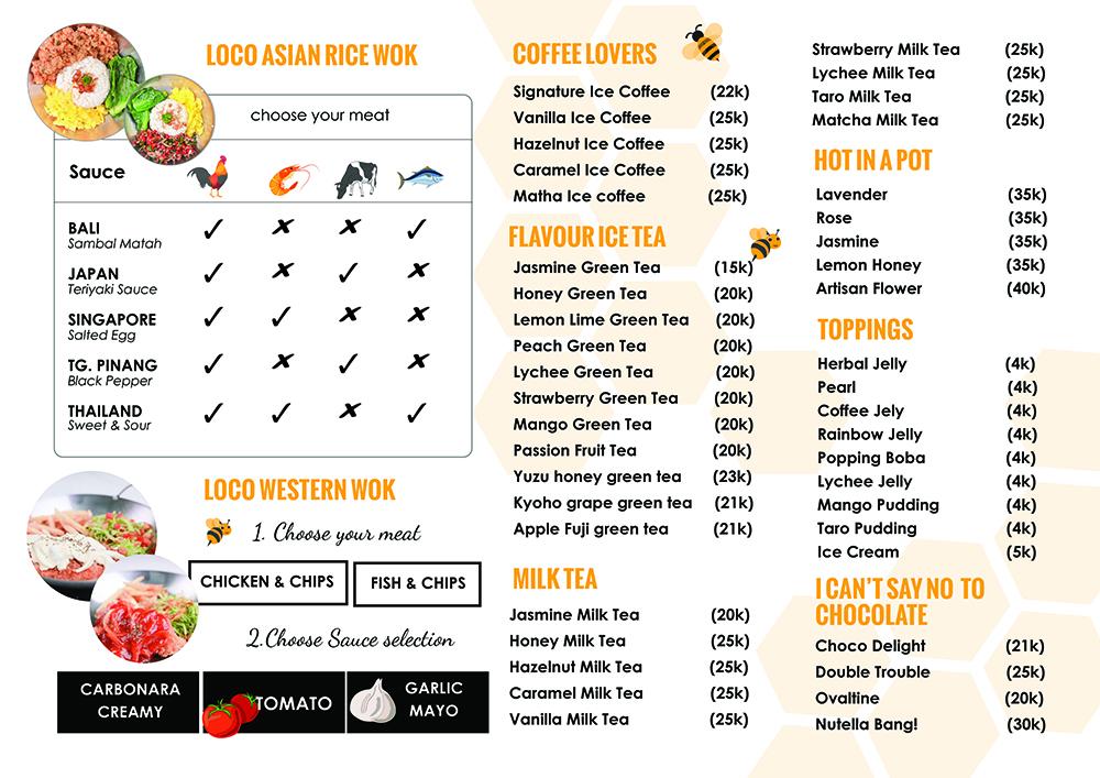Loco Menu- food menu designed by aiwsolutions