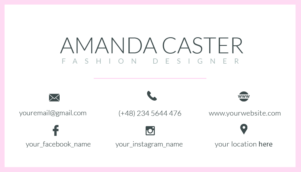 premade business card template  name card template  photography name card  model name card
