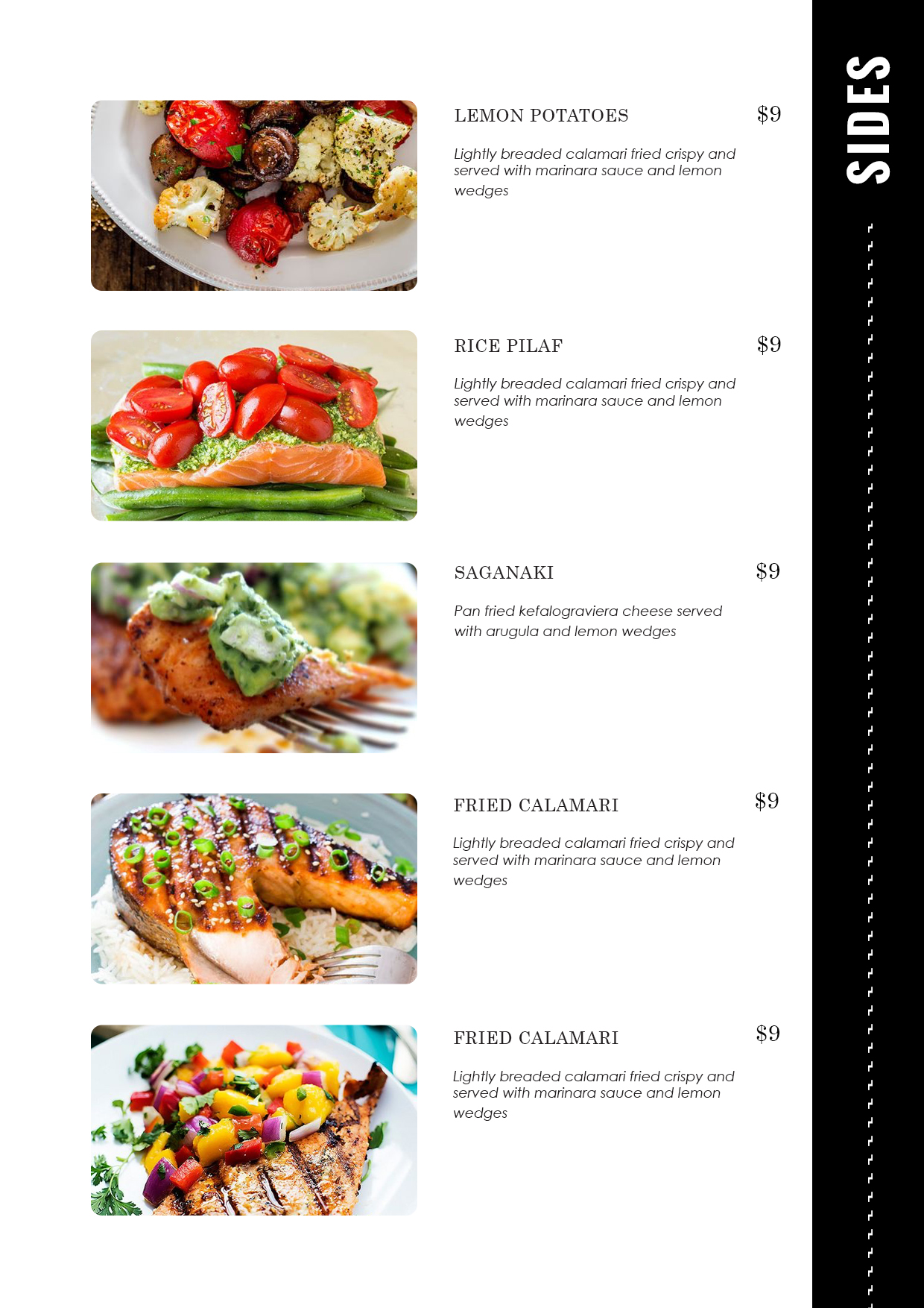 Restaurant Menu Card Templates