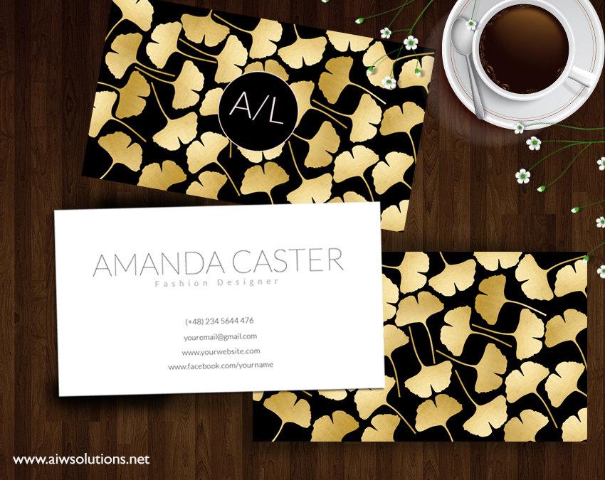 ginkgo leaf business card ginkgo leaf gold name card photography