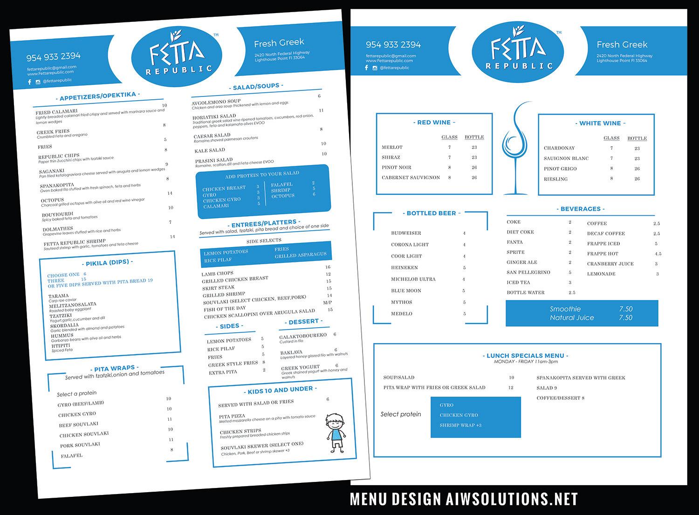 custom drink menu food menu asia food menu