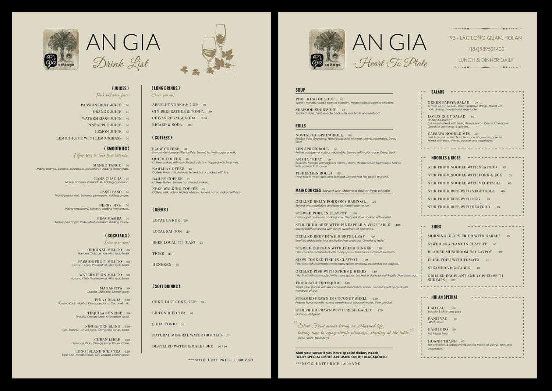 custom food menu