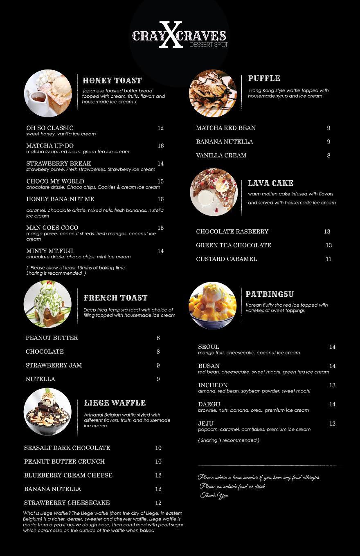 custom french food menu