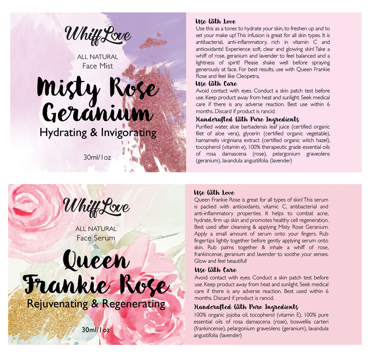 custom label design, face serum label design, face mist label design , custom natural label design