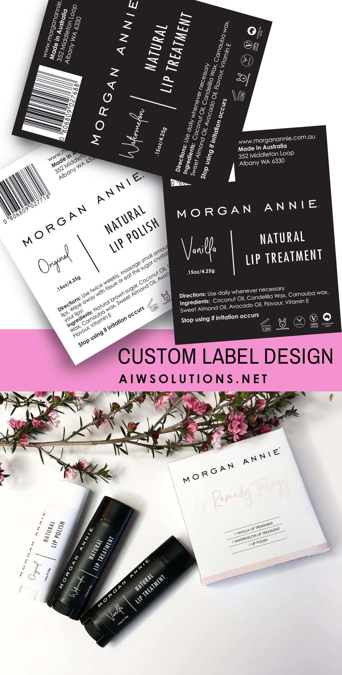 Beauty Product Label Designers Custom Label Design Label