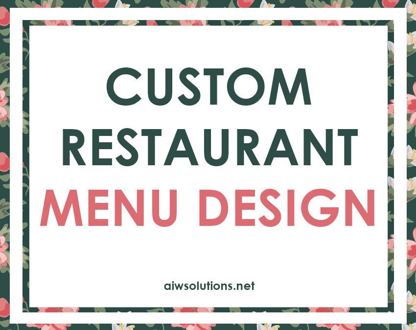 custom restaurant menu