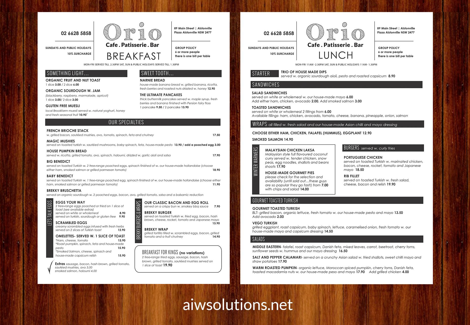 Thesis custom menu style