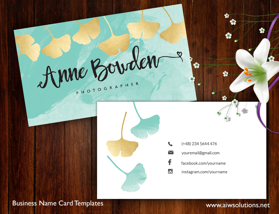 Premade business card template name card template photography name premade business card template name card template photography name card model name card customise business template fbccfo Images