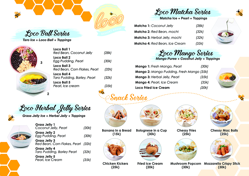 restaurant menu designed by aiwsolutions