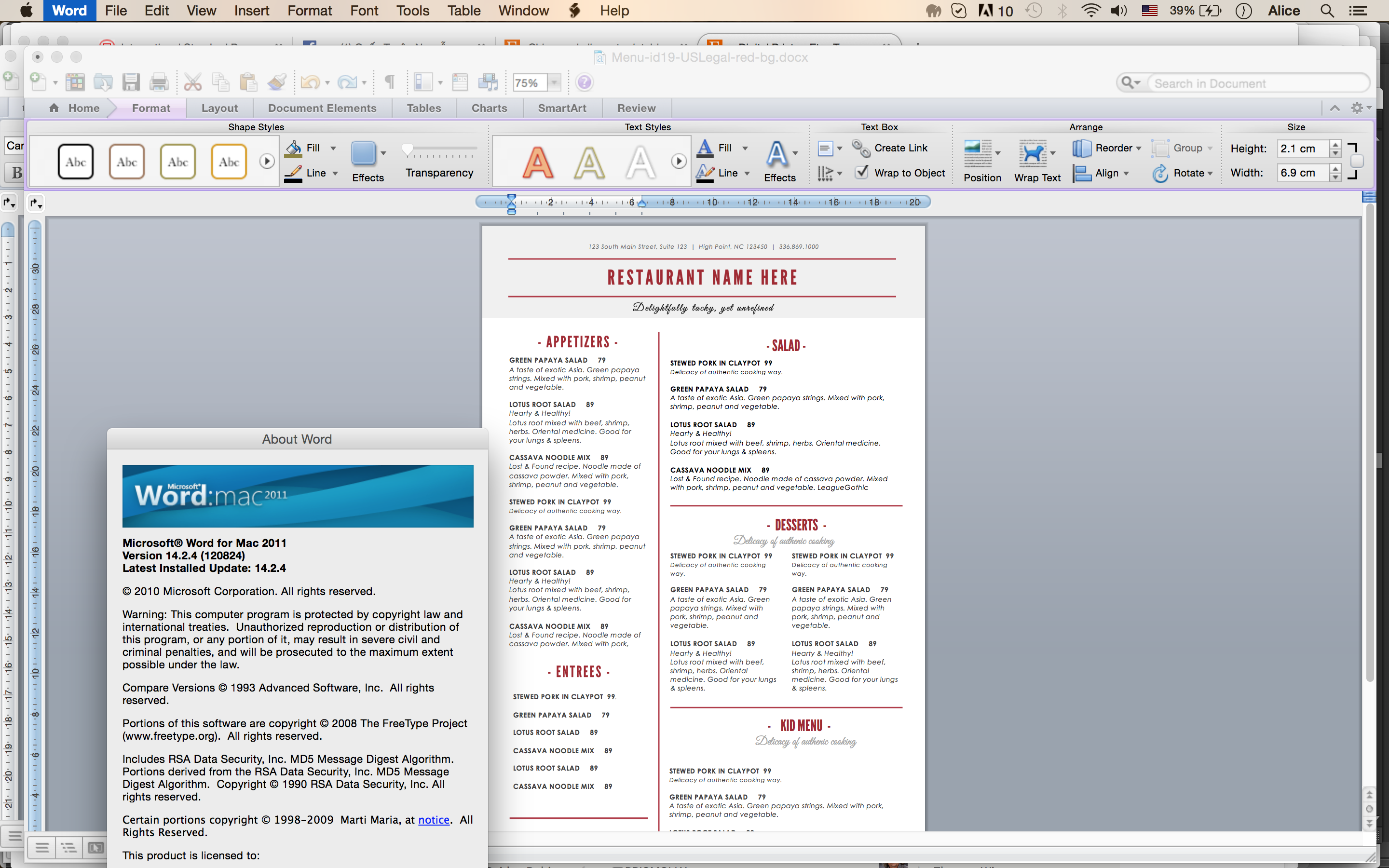 Screen Shot 2016 07 13 At 11.34.53 AM Ideas How To Make A Food Menu On Microsoft Word