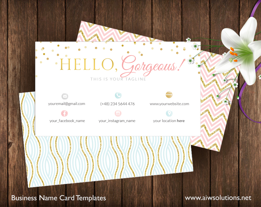 name card template, beautiful name card